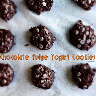 Chocolate Fudge Yogurt Cookies