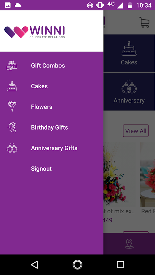 Winni - Cake & flower delivery- screenshot