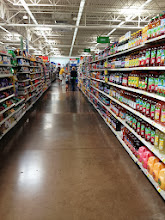 Photo: Found the juice aisle easily, but we needed to get juice boxes and those were all the way on the other end of the aisle.
