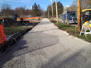 Photo: Completed gravel base for path 11-13-2013