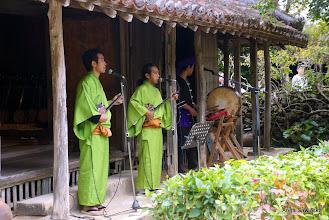 Photo: Traditional music at Ryukyu Mura (traditional village of Ryukyu Kingdom)