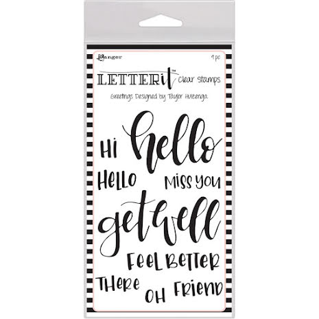 Ranger Letter It Clear Stamp Set 4X6 - Greetings