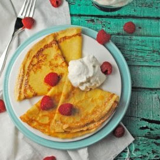Eggnog Crepes with Eggnog Whipped Cream