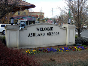 Photo: Welcome to Ashland, Oregon