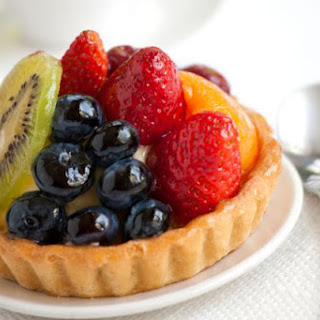 Fruit Tart Recipe with Pastry Cream Filling.