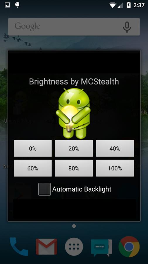 how to change screen brightness