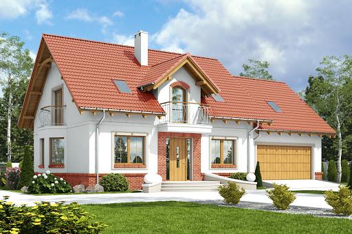 projekt Dom Dla Ciebie 1 w3 z garażem 2-st. A1