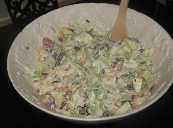 Apple Broccoli Coleslaw Salad Recipe