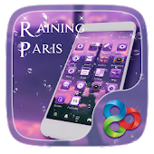 Raining Paris GO LauncherTheme