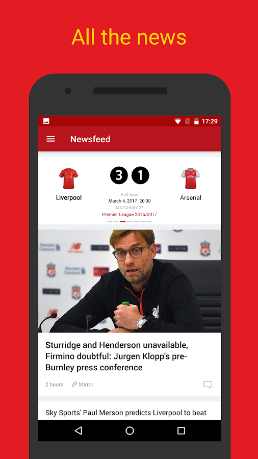 LFC Live — Liverpool FC News- screenshot