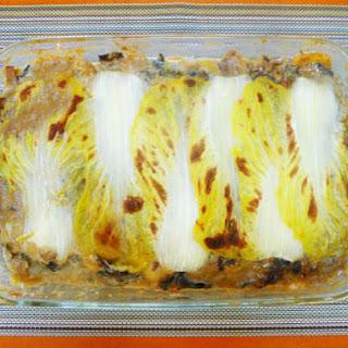 The Occasional Vegetarian's Cabbage and Mushroom 'Lasagna'.