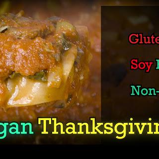 Thanksgiving Vegan Lasagna.