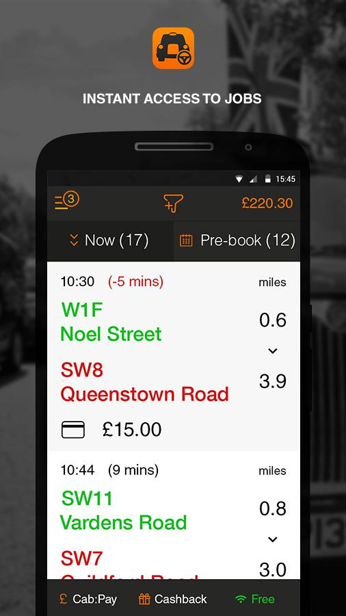 cabapp driver- screenshot
