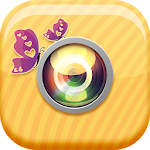 Cute Girly Photo Stickers Icon