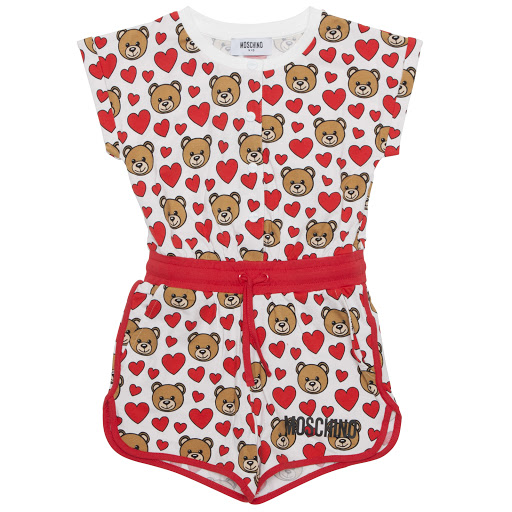 Primary image of Moschino Teddy Cotton Playsuit