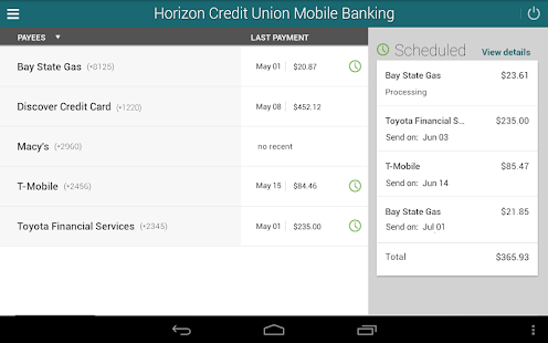 Horizon Mobile Banking- screenshot thumbnail