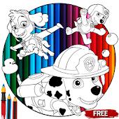 Tải Paw Dog Patrol Coloring Pages miễn phí