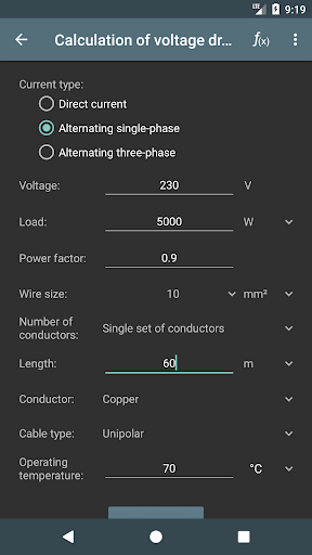 Screenshot for Electrical Calculations PRO Key in United States Play Store