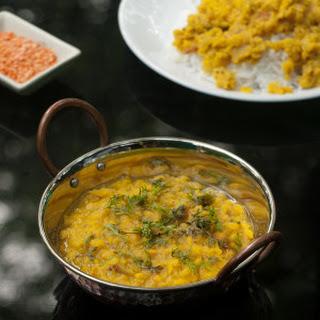 Goan Dal Curry - Masoor Dal - Red Lentil.