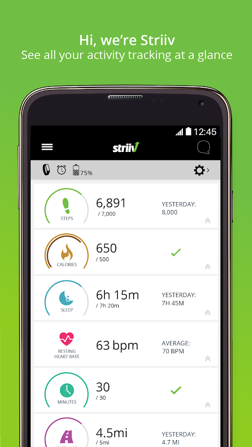 Striiv Activity Tracker- screenshot