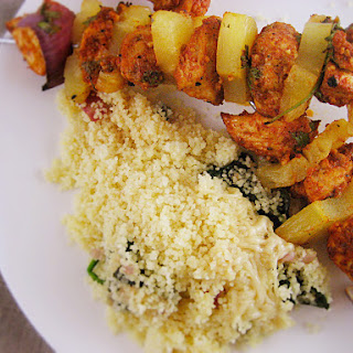 Moroccan Chicken and Pineapple Kebab