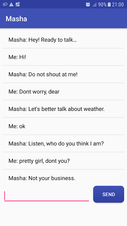 Masha chat bot – (Android Apps) — AppAgg