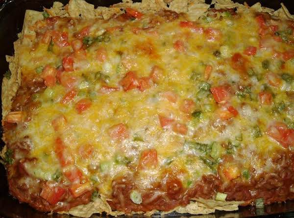 Full Taco Casserole Recipe With Tomatoes, Cheese, Beans And More