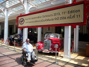 Photo: WheelchairThailand Hua Hin / Gehandicapten.com is admiring the vintage cars at Centara Grand Hotel in Hua Hin, Thailand.