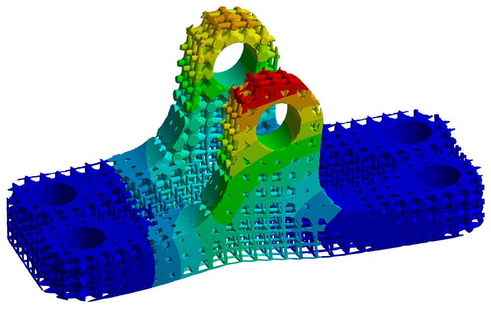 ANSYS Прочностной расчёт решетчатого кронштейна