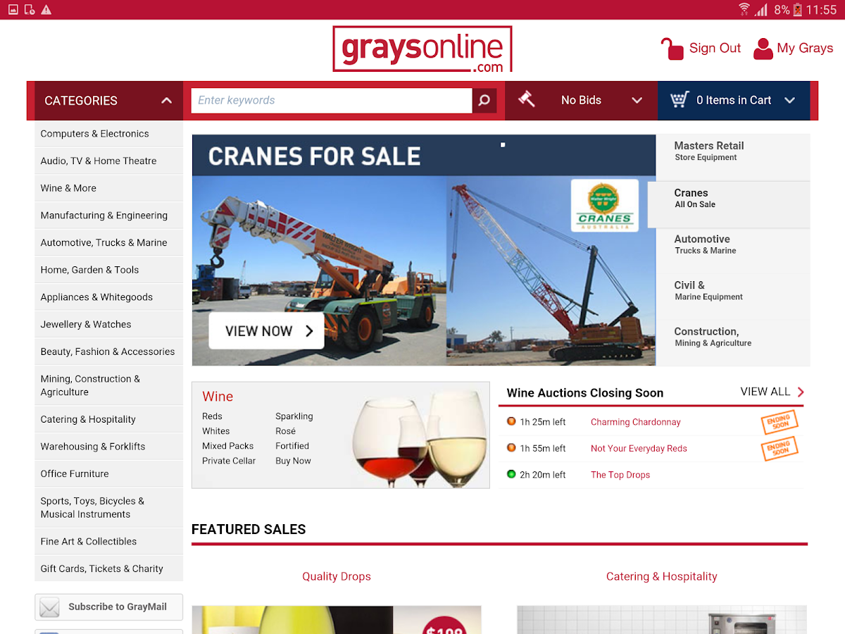 GraysOnline- screenshot