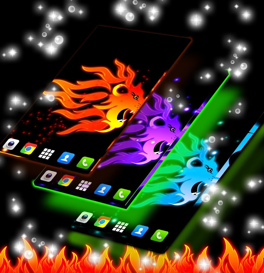 neon flame motorcycle wallpaper - photo #21