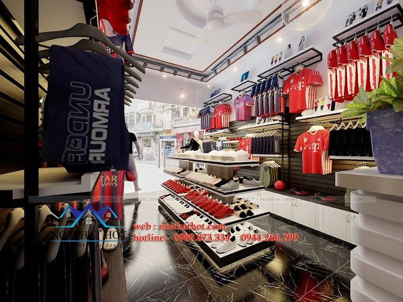 thiết kế cửa hàng thể thao chuyên nghiệp