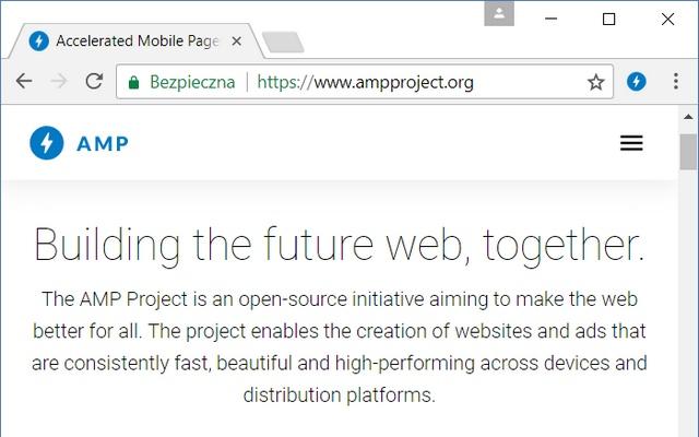 AMP Browser Extension Screenshot