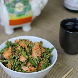 Asian Salmon Green Bean and Quinoa Salad