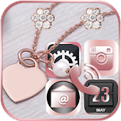 Pink Rose Gold Theme Rose gold Diamond