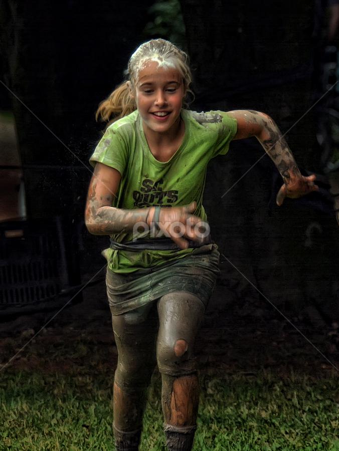 the winner by Ghislain Vancampenhoudt - People Street & Candids ( mud, soap, fun, dirt, competition )