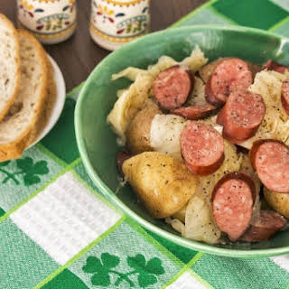 Slow Cooker Sausage, Cabbage and Potatoes.
