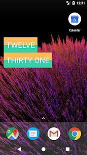 TextO'Clock : A Text Clock Widget - náhled