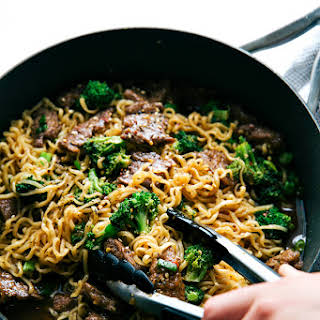 Skillet Beef and Broccoli Ramen.