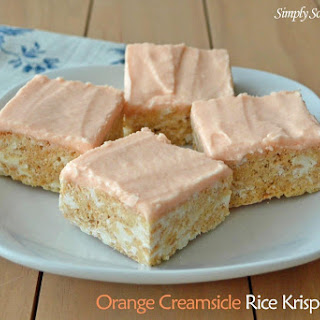 Orange Creamsicle Rice Krispies Treats