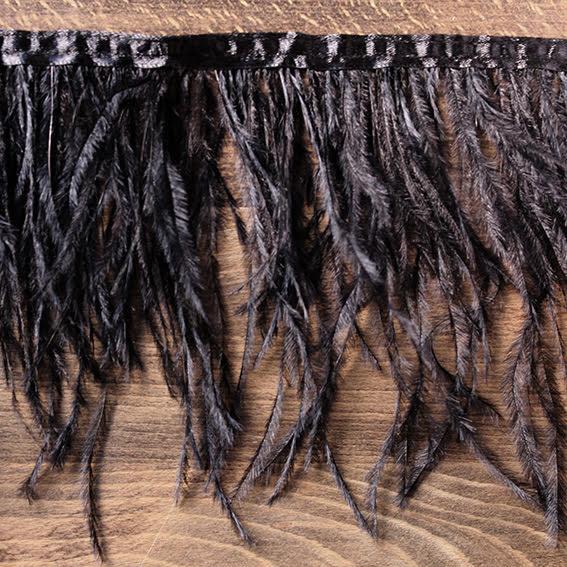 Fjäderband - struts 12cm, svart