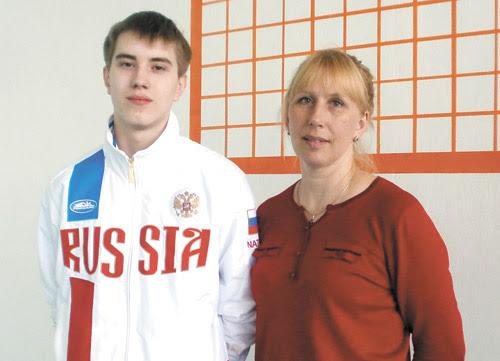 Сергей Мелкозёров и его первый тренер  Ольга Ячменёва