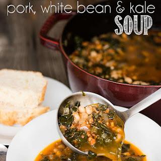 Italian Pork White Bean & Kale Soup.