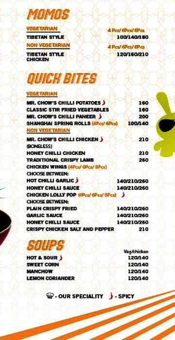 Speedy Chow menu 4