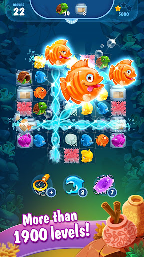 Mermaid - treasure match-3 androidhappy screenshots 2