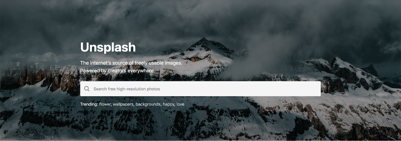 unsplash website login page