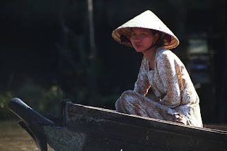 Photo: Major mode of transport on the Mekong