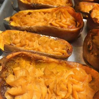 Twice-Baked Butternut Squash with Brown Butter and Parmesan Recipe