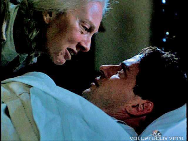 Nanny Webb tries to warn David in the film Haunted.