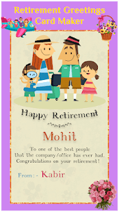 retirement greeting cards maker apps on google play